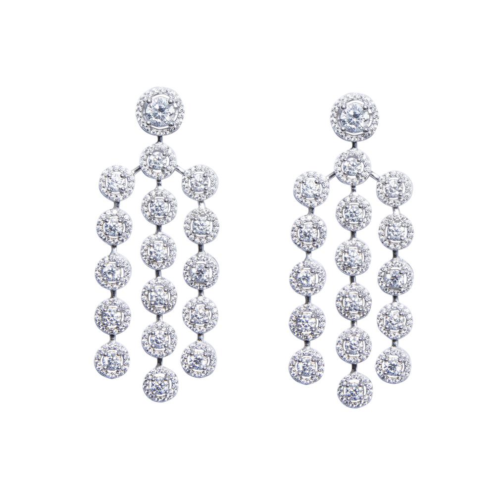 7456a11af White Color Cz Chandelier Earring - Sarah Gargash